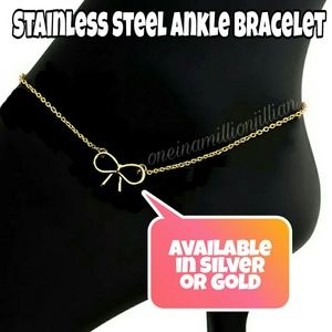 Jewelry - Stainless Steel Bow Ankle Bracelet/Anklet